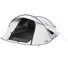 £69.99 - All Tents - 2 Seconds Easy III Fresh&Black Pop Up Tent - 3 Man - Quechua