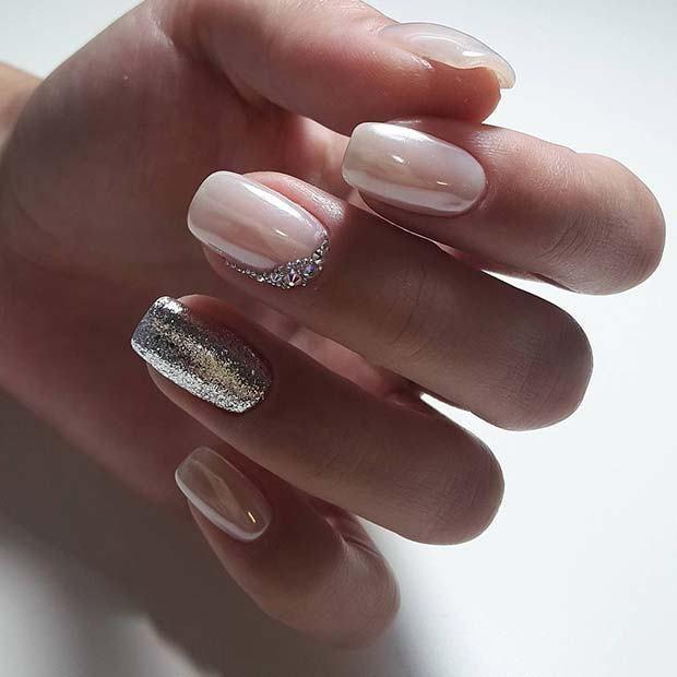 13 Cute Nail Designs For Brides To Be Idei Unghii Modele Manichiură Design Unghii