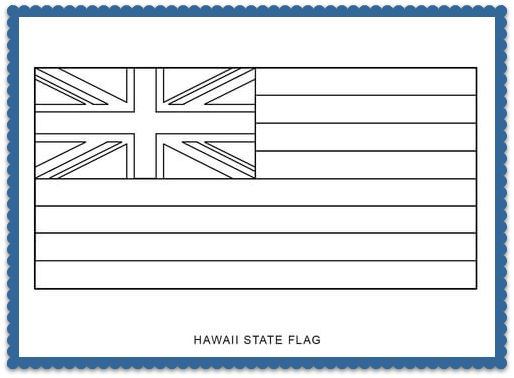 150 best usa state flags images on pinterest states for Hawaii state flag coloring page