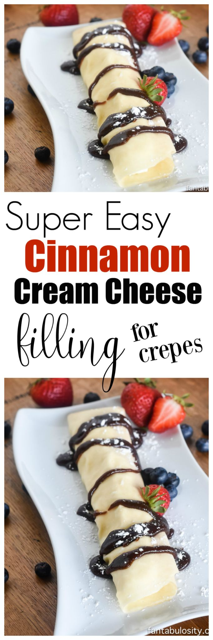 Easy Cinnamon Cream Cheese Filling Recipe: For Crepes This was SO easy and INCREDIBLE! My husband begged me to make them again