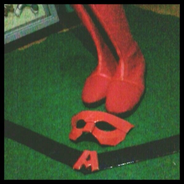 Shoes | Mask | Belt | local indie hero costume | superhero red | costume | low buget | initial A .