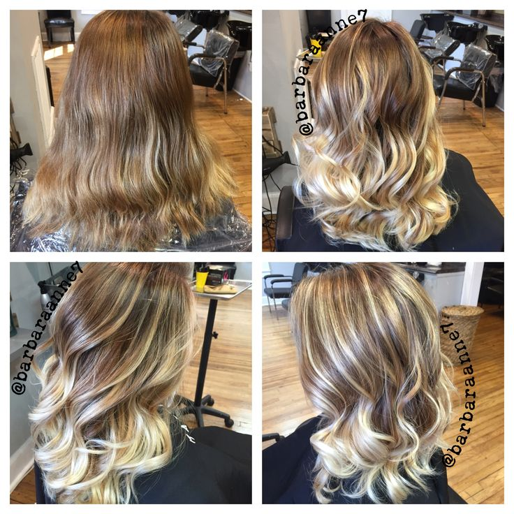 Before Amp After Balayage Ombr 233 Kenra Color Blonde Curls