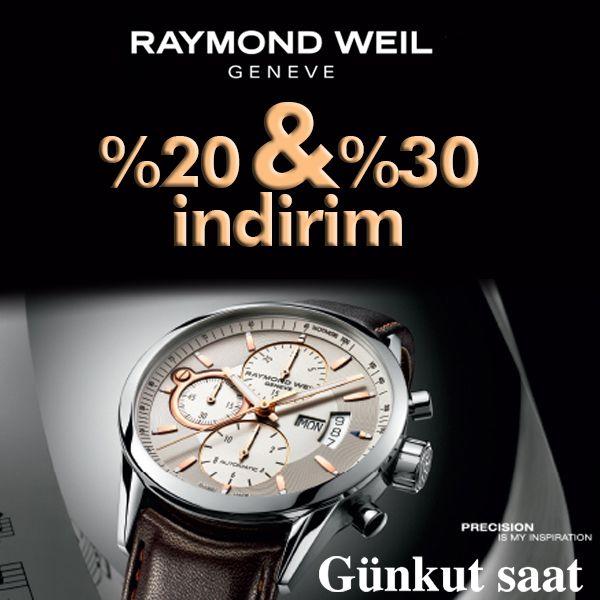 İsviçre'nin Lüks Saat Markası Raymond Weil, %20 ve %30 İndirim ile Buluştu!  İndirimli Raymond Weil Ürünleri için;  http://www.gunkutsaat.com/?kategori-43-kol-saati=&kactane=24&offset=24&cid=43&src=&mrk=125&grp=&cmp=&brw=&stock=&typ=&order=&direction=&chkBeden=&chkRenk=&chkMarka=