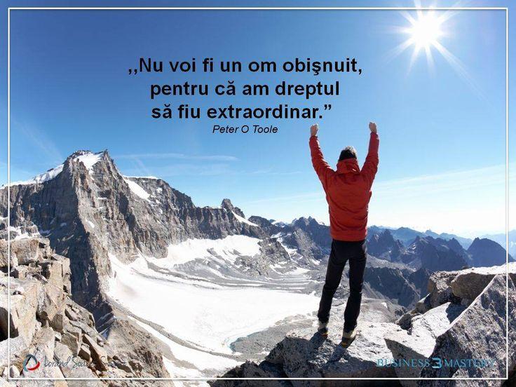 Ai încredere în tine și nu te lăsa învins pentru că meriți să ai o viață plină de succese!