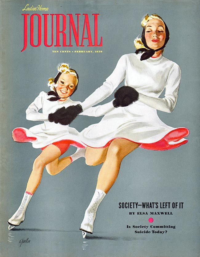 Ladies' Home Journal 1939-02. I have a pic of my mom and her friend skating like this in Canada.