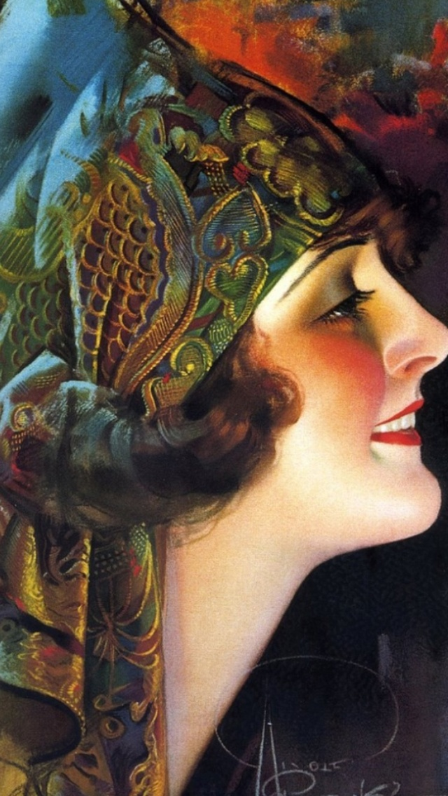 Art Deco portrait of Flapper Girl by Rolf Armstrong