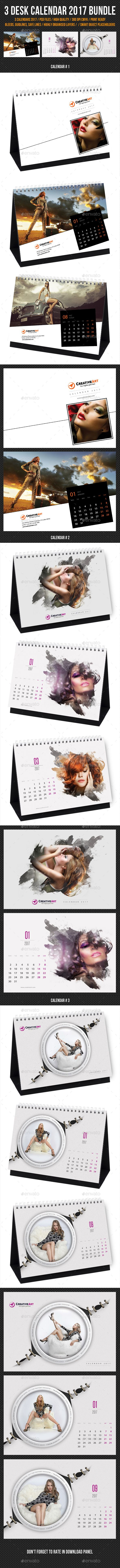3 in 1 Creative Desk Calendar 2017 Templates PSD Bundle. Download here: https://graphicriver.net/item/3-in-1-creative-desk-calendar-2017-bundle-05/16995423?ref=ksioks