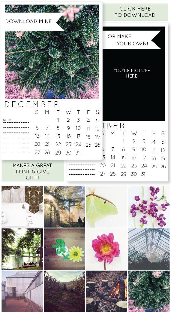 » 2015 printable instagram calendars