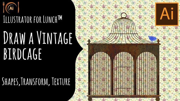 Learn to Draw a Vintage Birdcage in Illustrator