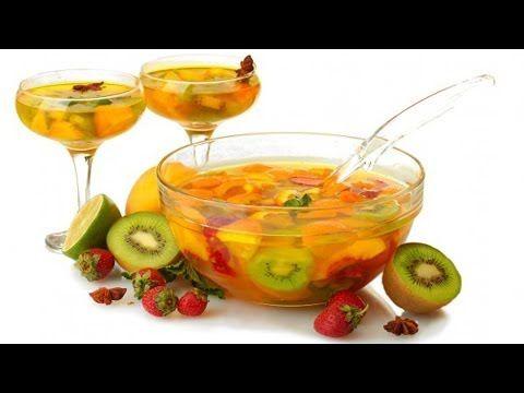 Тропический пунш с фруктами - YouTube
