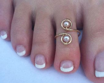 Fairy Crystal Toe Ring 14K Gold  and  Swarovski Crystal Wire