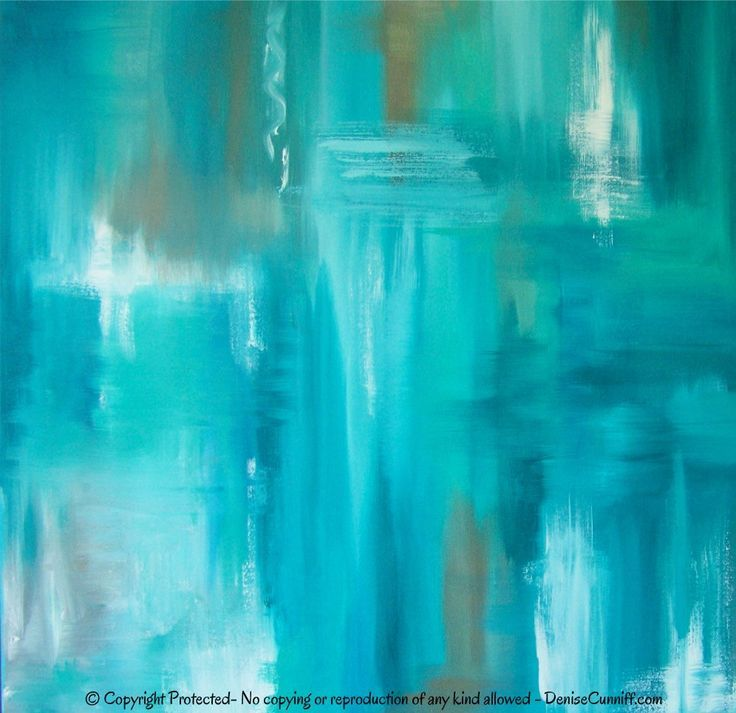Large canvas wall art teal abstract artwork turquoise for Teal wall art