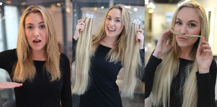 .    As Extensões de cabelo  com fita adesiva são fundidas ao seu cabelo natural…