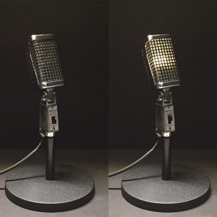 Vintage Microphone Lamp | BluArch Collection