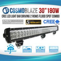 "Cosmoblaze 30"" 180W CREE LED Light Bar Driving WORK FLOOD SPOT COMBO 4WD 6063 AL"