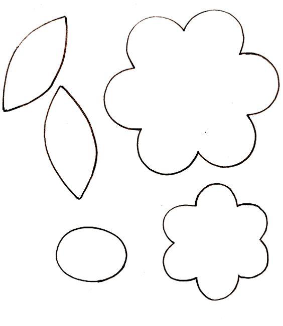 gabarits  pour le Petit pot de fleur pour décorer les tables