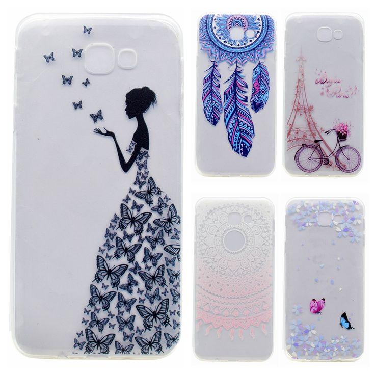 Soft TPU Case sFor Samsung Galaxy J7 Prime case For Fundas Samsung J7 Prime Cover Phone case Butterfly girl Transparent Capa
