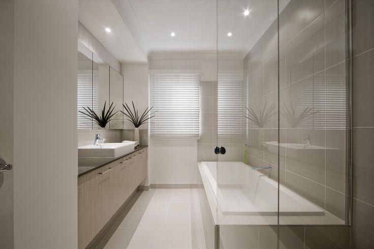 Alto eggshell floor and alto ash walls/bath/nib, vanity & skirting, main bathroom, thin skirting