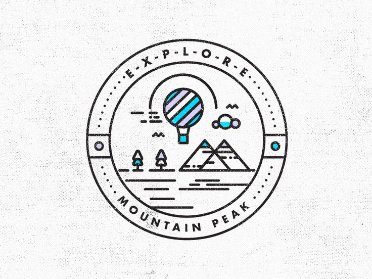 Ain't No Mountain High Enough // Badge Design The next installment in the E-X-P-L-O-R-E series.  View the project development here  Follow STUDIOJQ:  Behance | Twitter | Pinterest