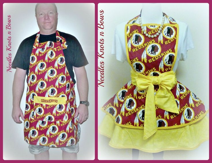 Washington Redskins Apron, Mens Aprons, Womens Aprons, Redskins Football Team Apron, Sports Tailgating, Gifts for Men or Women