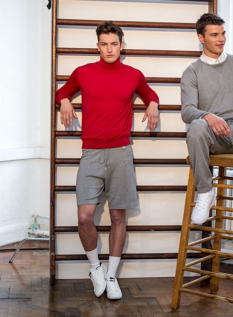 John Smedley SS14 collection at LC:M #rollneck # knitwear