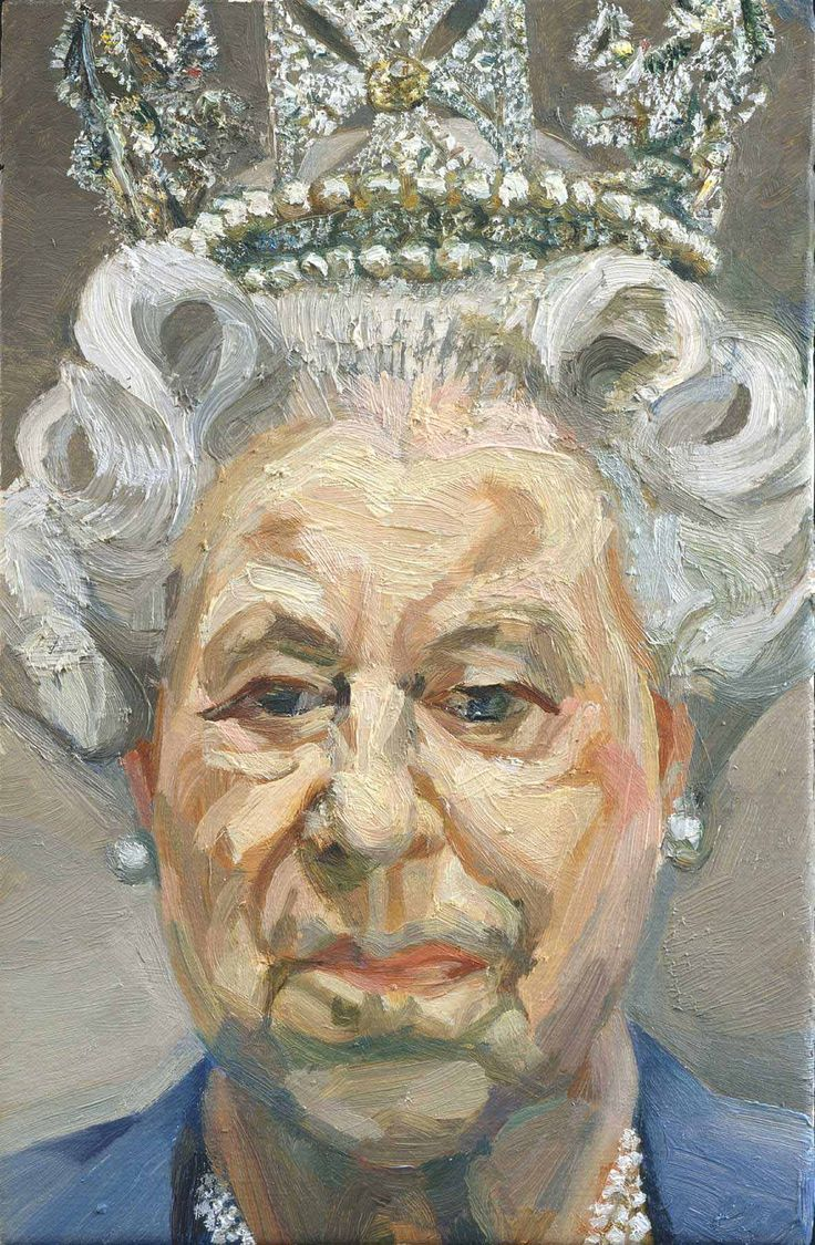 HM Queen Elizabeth II Lucian Freud 2000–2001 Oil on canvas 23.5 x 15.2 cm