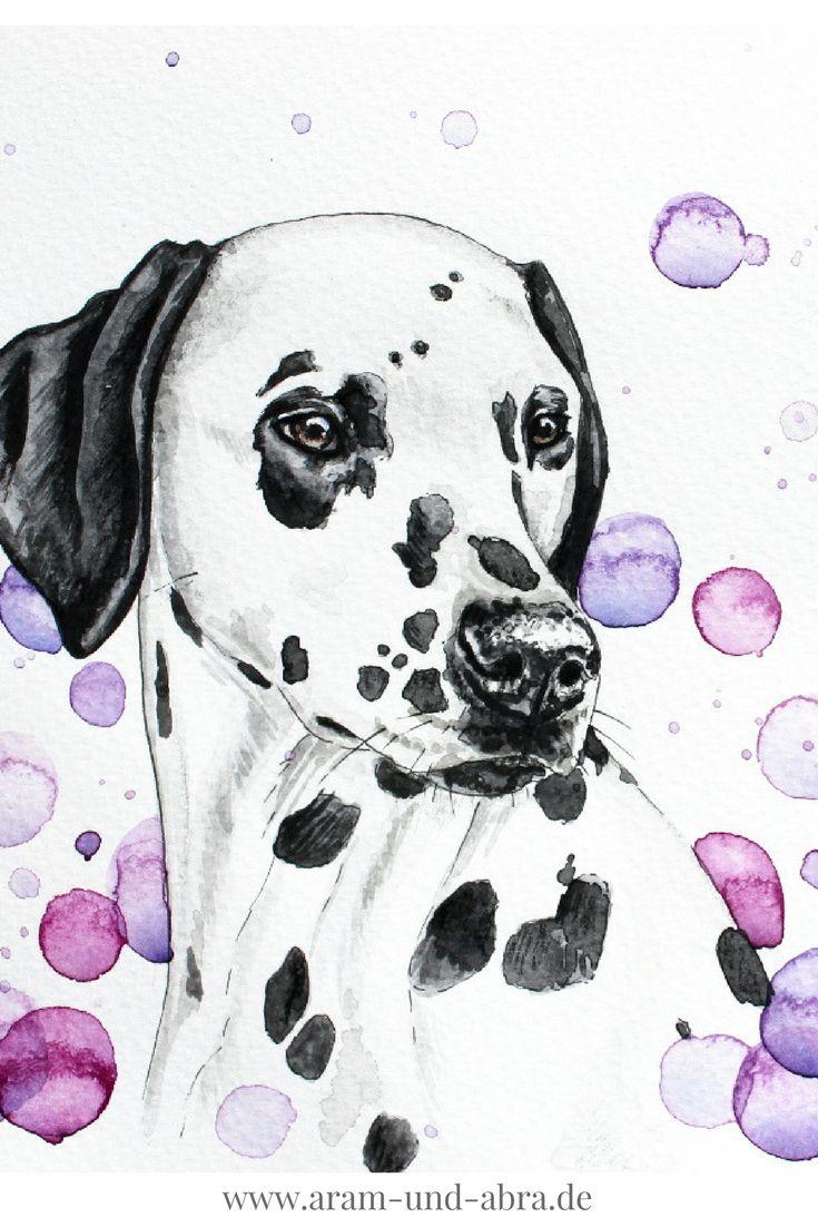 Illustrationen und Portraits von Hunden