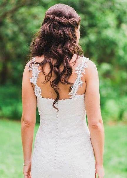 40+ trendy wedding hairstyles diy half up half down veils