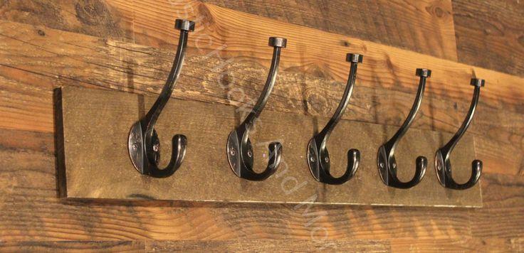 Coat Rack, Hat Rack, Towel Rack, Rustic Coat Rack, Wooden Coat Rack, Five Hooks Coat Rack. by RusticHooksAndMore on Etsy