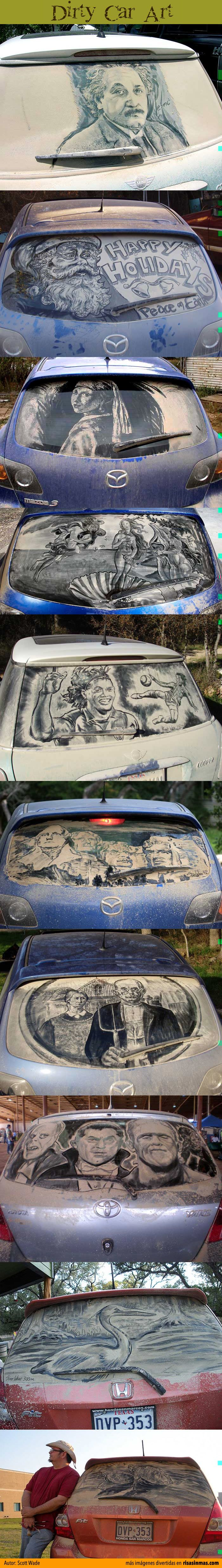 Best DIRTY CAR ART Images On Pinterest Window Art Lwren - Scott wade makes wonderful art dusty car windows