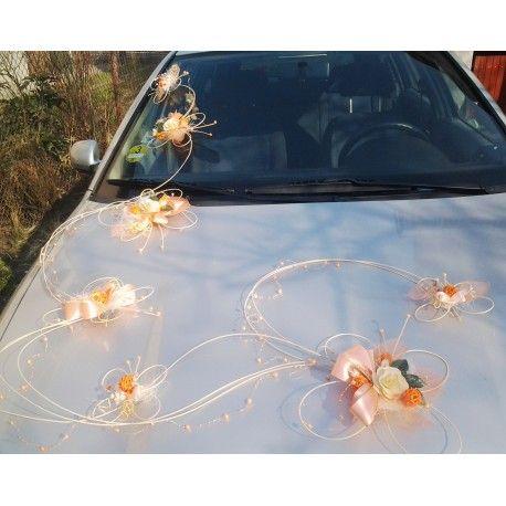 Výzdoba auta- 7 motýlů romantic