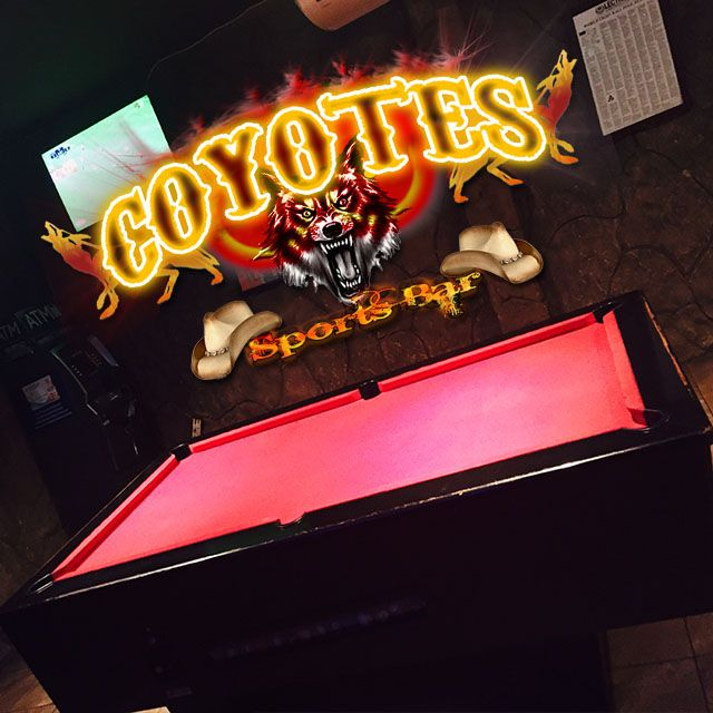 Bring your friends and join us at @CoyotesMargate for a game of pool and a drink!