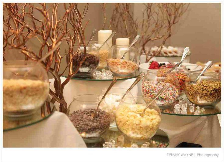 Sundae bar at a wedding   Wedding Planning   Pinterest