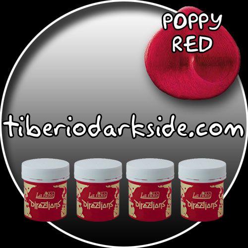 AHORRA AL COMPRAR 4 BOTES DEL MISMO COLOR(LA UNIDAD SALE A 7 EUROS)COLOR - POPPY REDTONO - Rojo amapolaMARCA - DirectionsDECOLORACIÓN NECESARIA - MediaPRODUCTO:Tinte semi-permanente para uso sobre cabello decolorado.DESCRIPCIÓN:Coloración en crema. No contiene peróxido ni amoniaco.DURACIÓN:Se cae gradualmente en 6- 8 lavados aprox.PRESENTACIÓN:Bote de 88 ml con tapón de rosca.Modo de empleo:- Aplicar sobre cabello limpio y seco.- Dejar actuar de 20 a 30 min.- Aclarar.Recomendaciones:- Para…