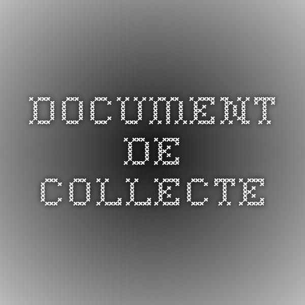 Document de collecte