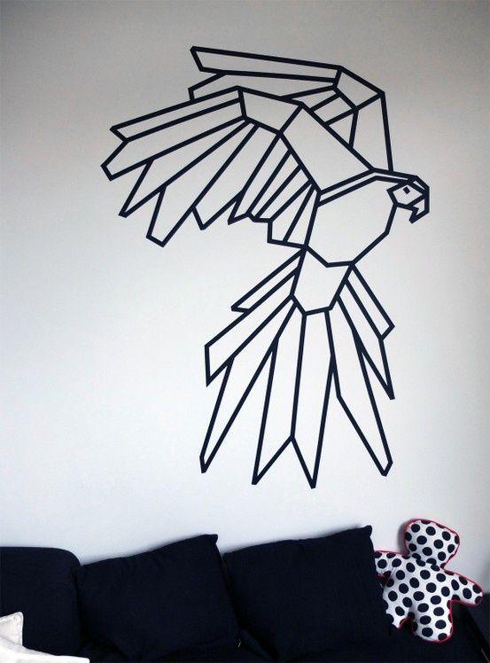 Best 25+ Tape Art ideas only on Pinterest | Tape wall art, Masking ...