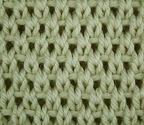 Simple knit, purl and slip stitches create this airy stitch pattern for a light summer baby blanket.