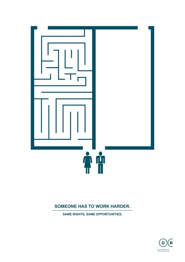 """""""Someone has to work harder."""" Love this series of graphics from Manifesta Utilità!"""