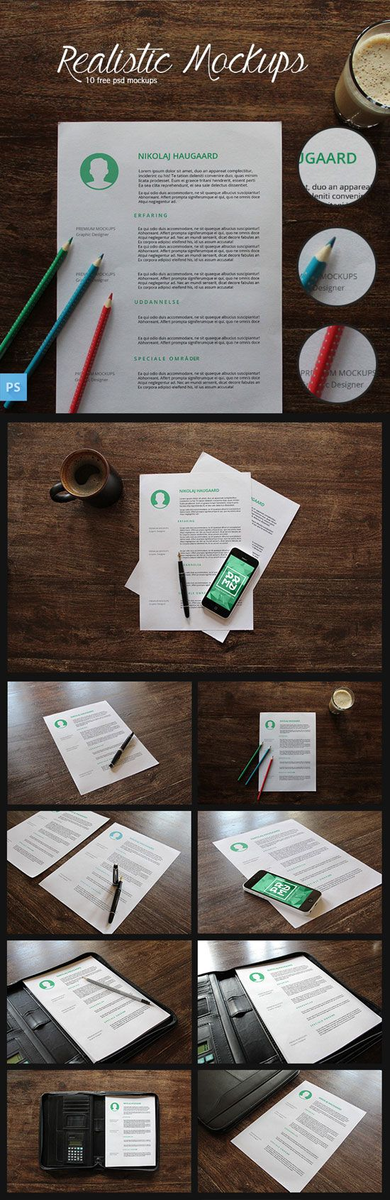 The Ultimate Collection of Free Branding/Identity Mockups #free #mockups