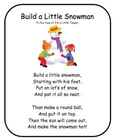 Classroom Freebies: Snowman Poem!