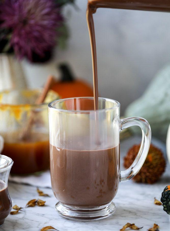 Pumpkin Hot Chocolate - Pumpkin Coconut Hot Chocolate