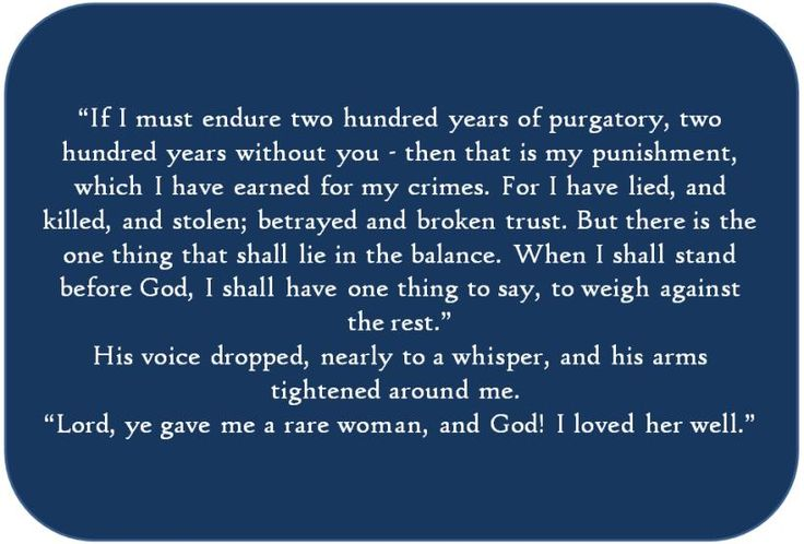 """Jamie - and Claire - Fraser, """"If I must endure two hundred years of purgatory,"""" from Dragonfly in Amber (Diana Gabaldon's Outlander series)"""