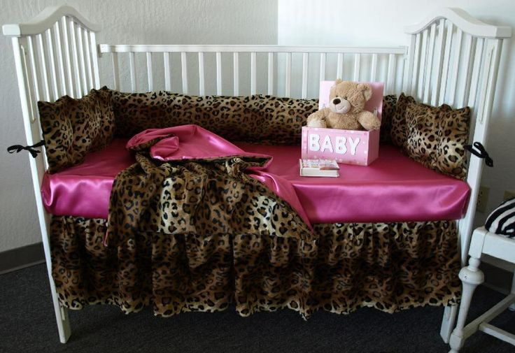 Cheetah and pink baby bedding