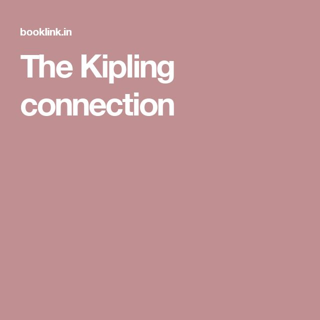 The Kipling connection