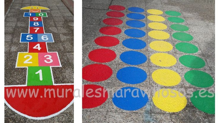 El Twitter y la Rayuela pintados en colegios