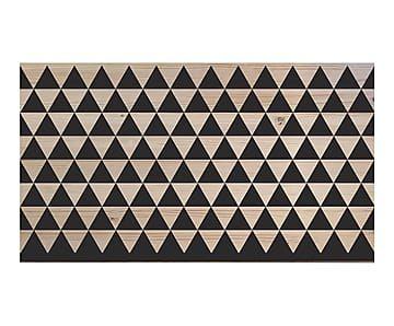 Testiera letto in legno di pino Triagulo naturale/nero