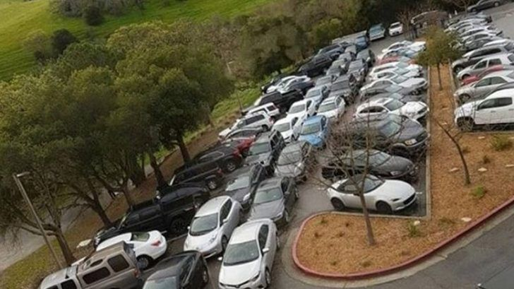 Tesla's Fremont Parking Lot Shows Some Problems With Personal Auto Use (Images)