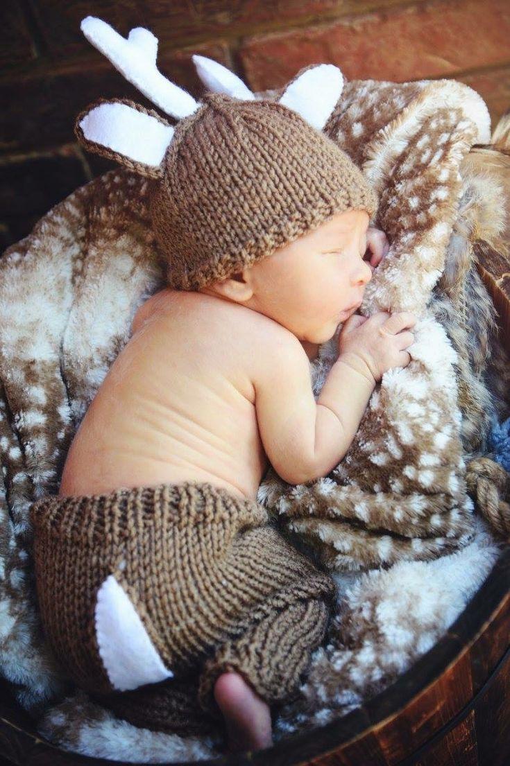 Woodland newborn photography baby boy