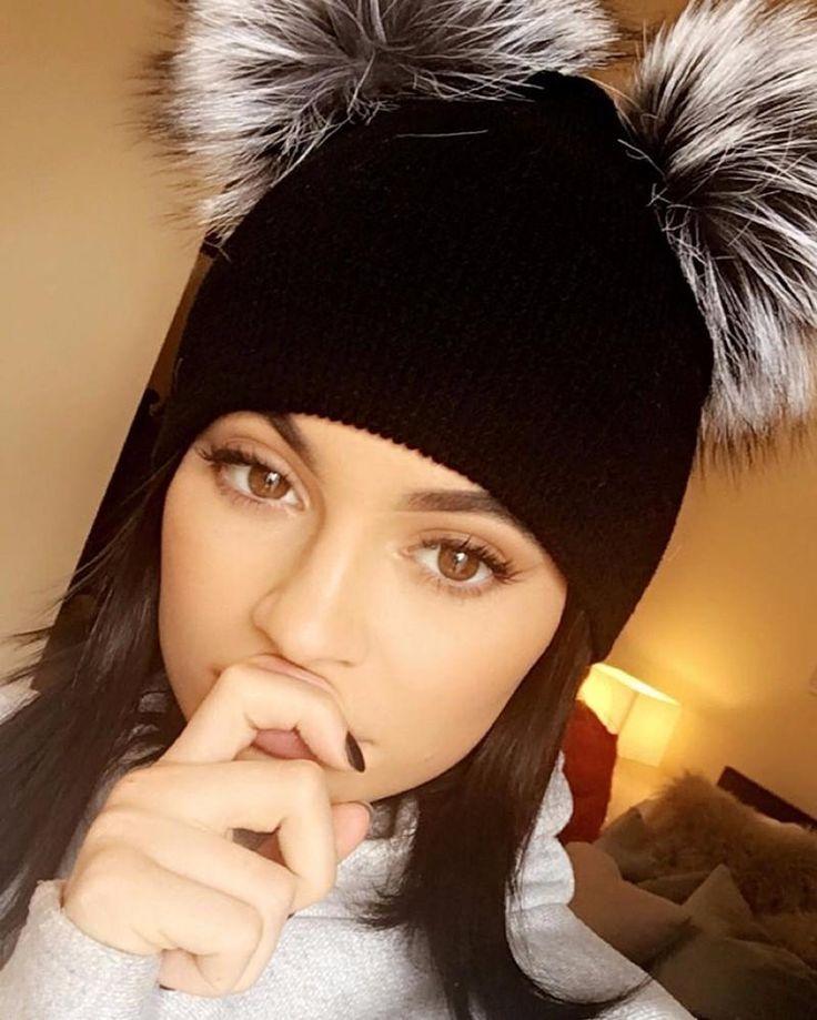 2016 New Arrival Autumn Winter Women's Fur Hats Beanies Fox Fur Fashion Cute Style Wool Crochet Brim Knitted Balaclava Hat