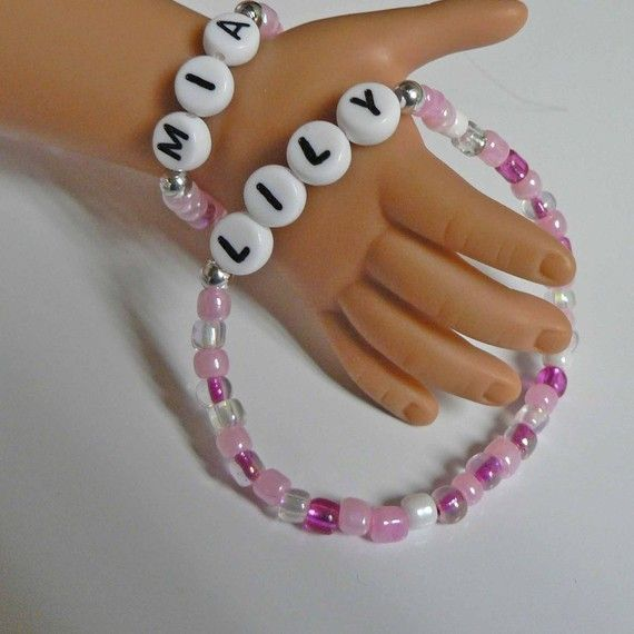 Me and My Doll Bracelet Set PERSONALIZED name by stargazinglily